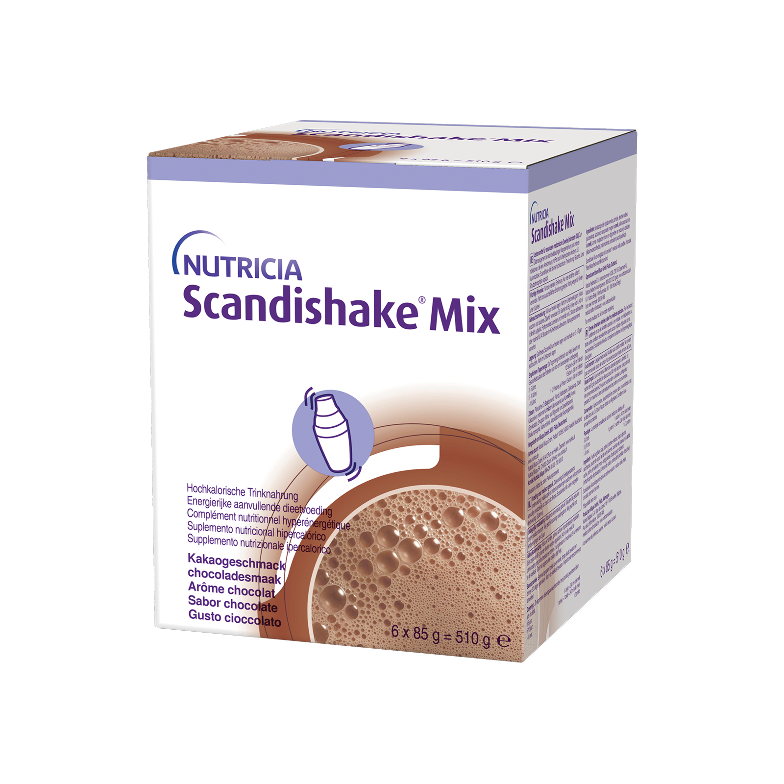 Scandishake Cioccolato Scatola da 6 buste da 85 g   Nutricia