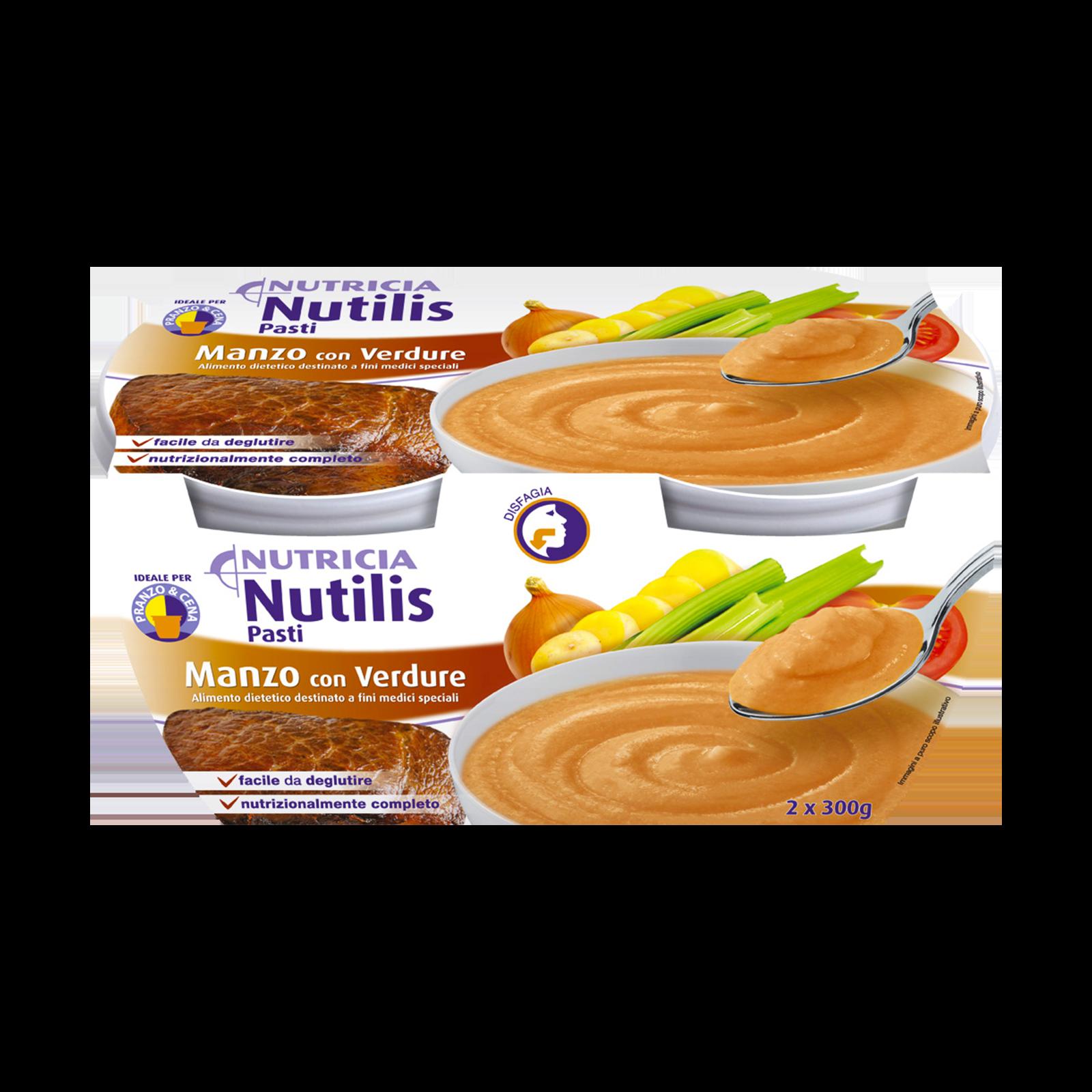 Nutilis Pasti Manzo e Verdure 16x Confezioni 300g | Nutricia