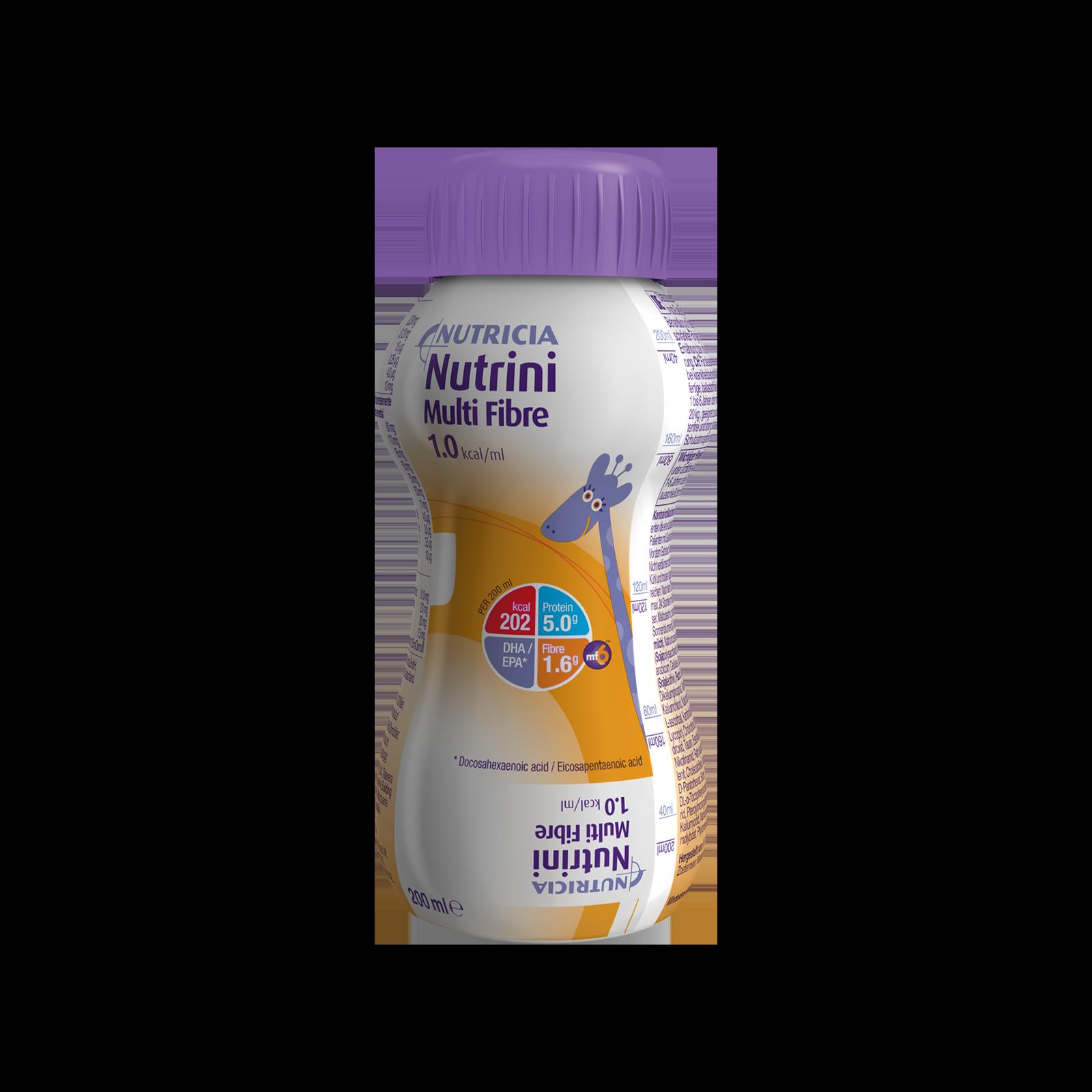 Nutrini Multi Fibre Bottiglia di plastica da 200 ml | Nutricia