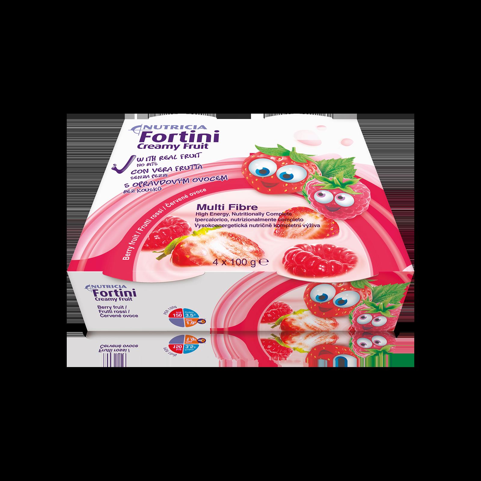 Fortini creamy multifibre frutti rossi 48x Confezione 200 ml | Nutricia