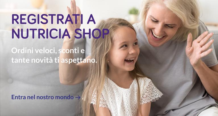 Registrati a Nutricia Shop