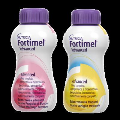 Fortimel Advanced Fragola di bosco e Vaniglia tropicale 8 bottigliette