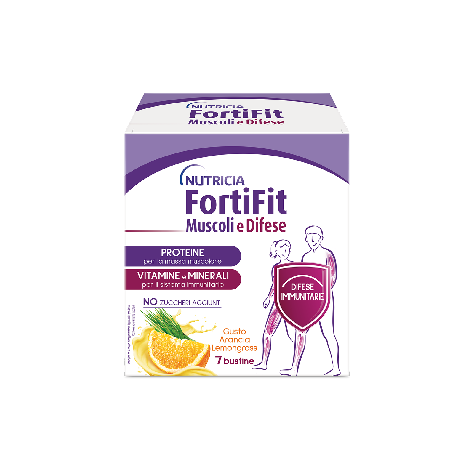 Integratori alimentari - FortiFit Muscoli e Difese  Arancia Lemongrass 1 astuccio, FORTIFIT