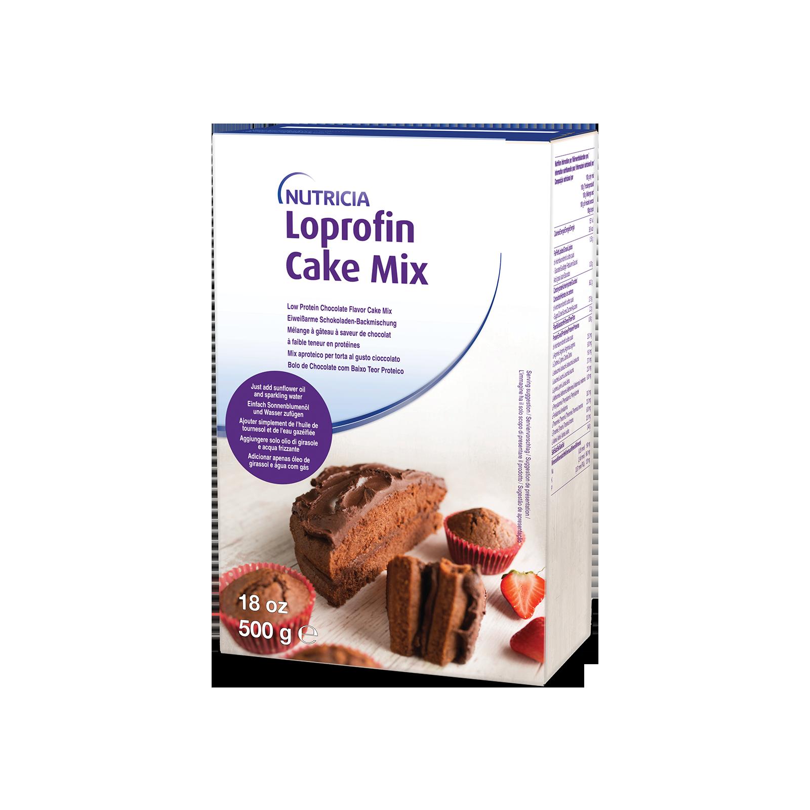 Loprofin Cake mix al cioccolato scatola da 500g | Nutricia