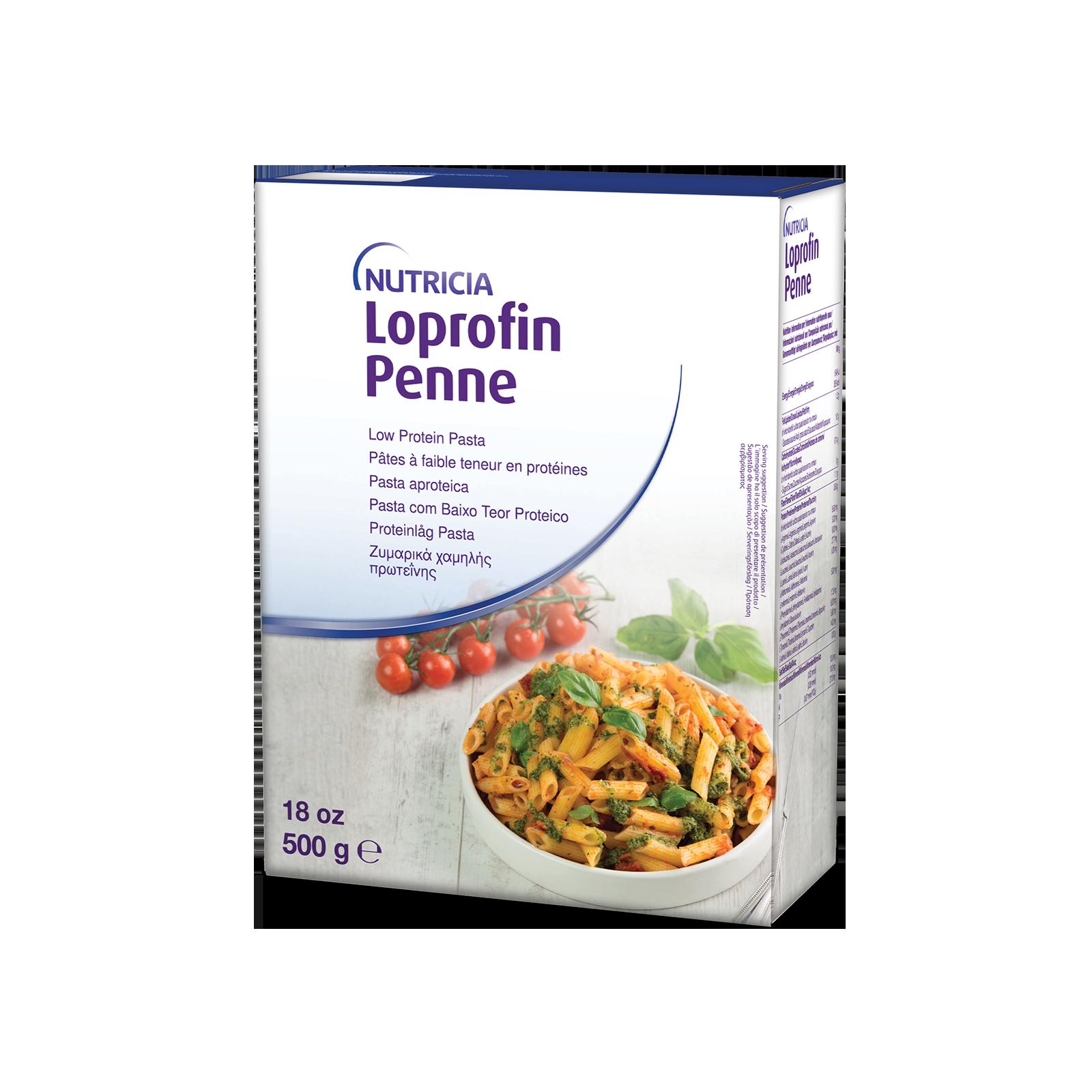 Loprofin Pasta Penne Rigate scatola da 500g | Nutricia